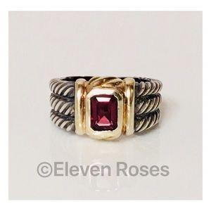 David Yurman Three Row Garnet Ring